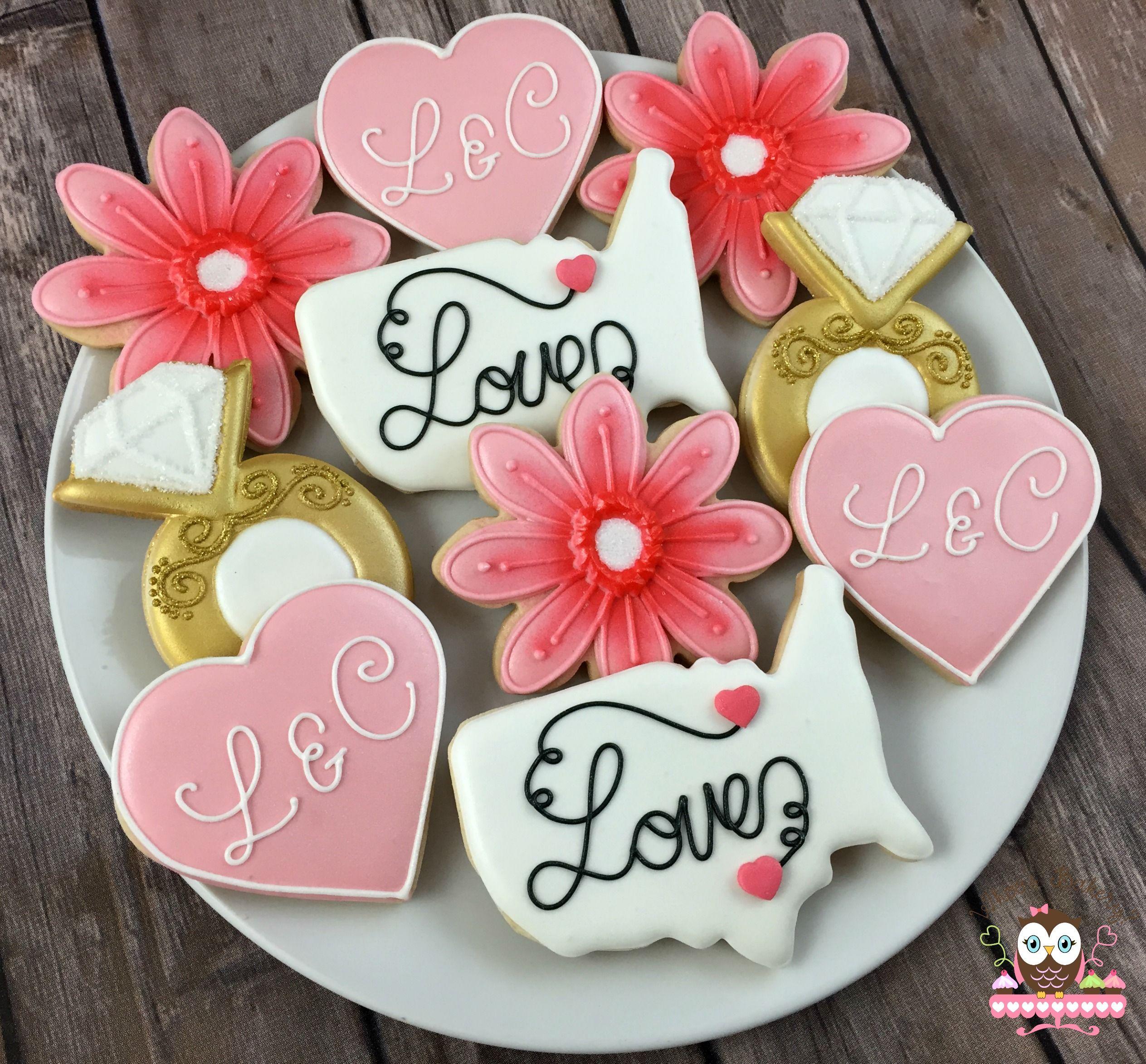 Custom bridal shower cookies, wedding cookies, american wedding ...