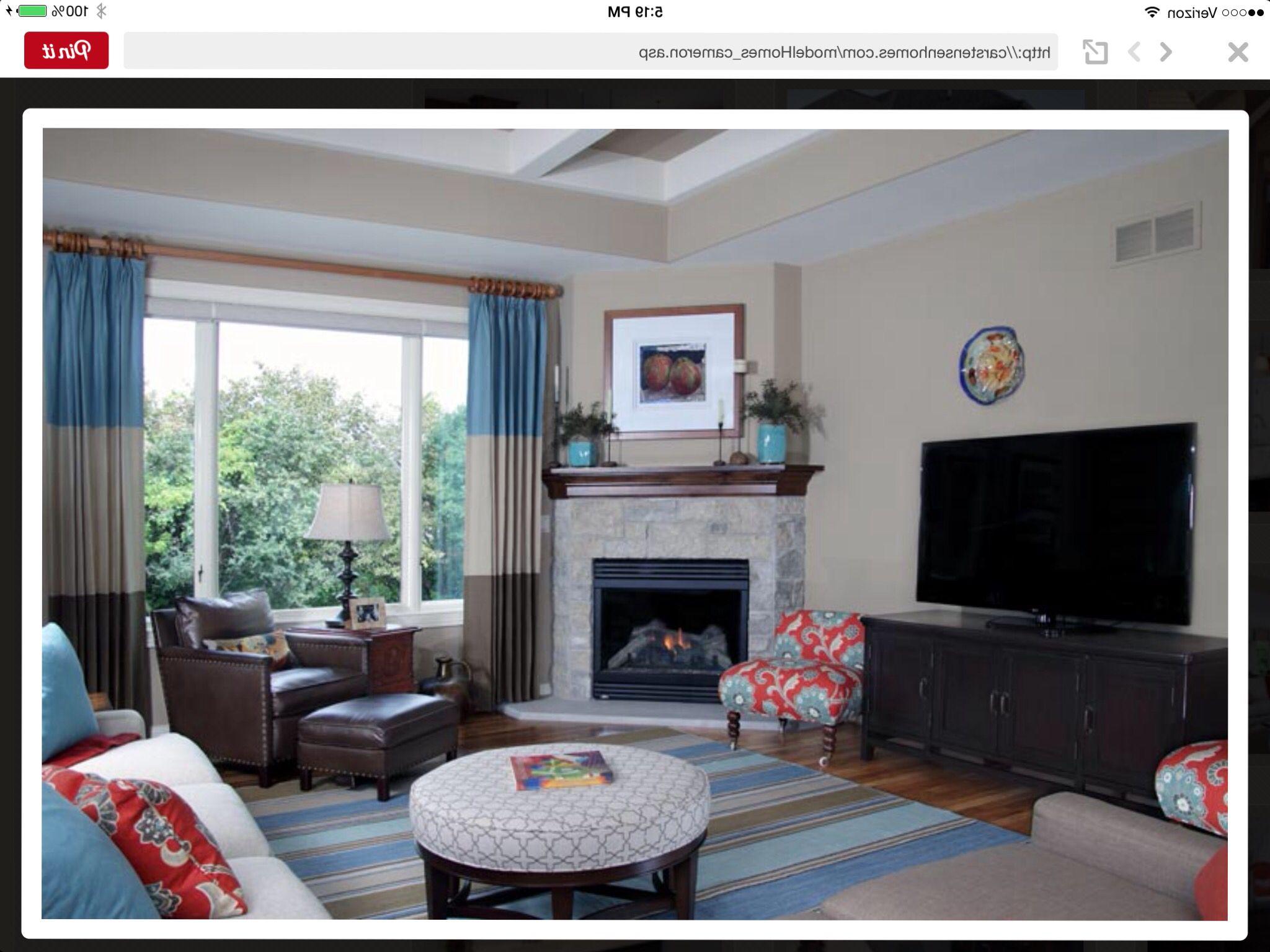 Room Arranging: Furniture Arrangement With Corner FP