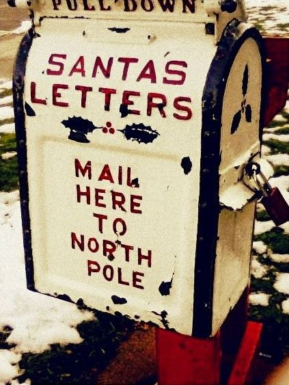 I love when my grandkids, write their letters to Santa ~