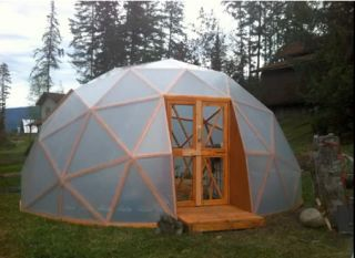 Diy Geodesic Dome Greenhouse Garden In 2019 Dome