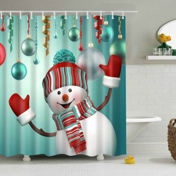 Winter decor in every room in my house! love it! #ad #snowman