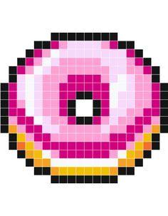 Beignet Rose Stickers Muraux Pixel Art Anime Pixel Art