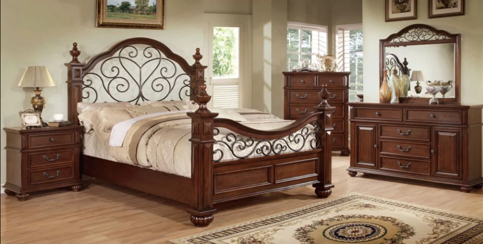 Furniture Of America Spiral Stranda Collection Poster Bed Set