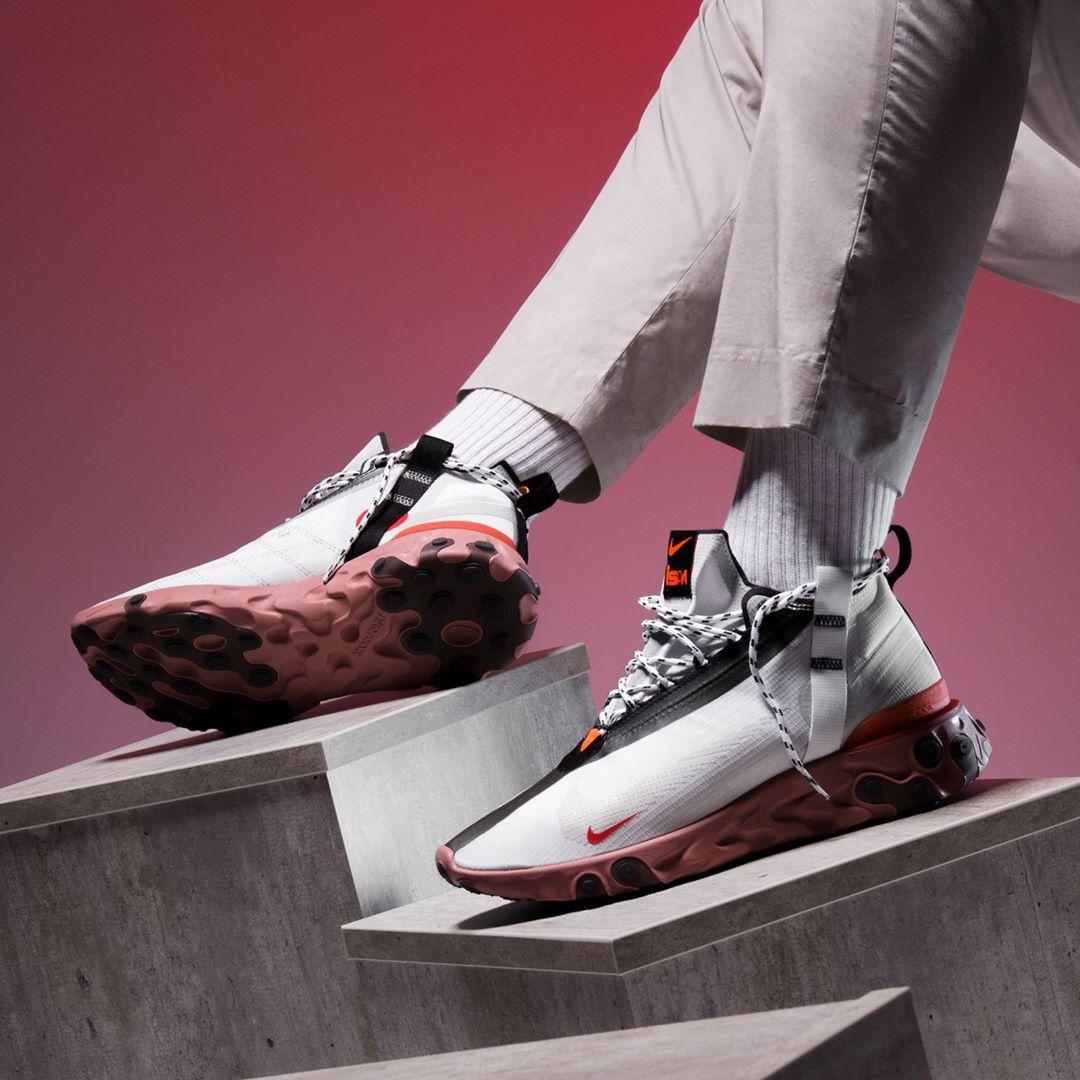 aguja Supresión Regresa  insidesneakers • Nike React Runner Mid iSPA White / Light Crimson •  AT3143-100 | Sneakers men fashion, Sneakers, Sneakers men