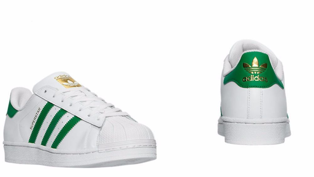 buy online 5af95 cede0 Men's Adidas Originals Superstar Foundation White/Green ...