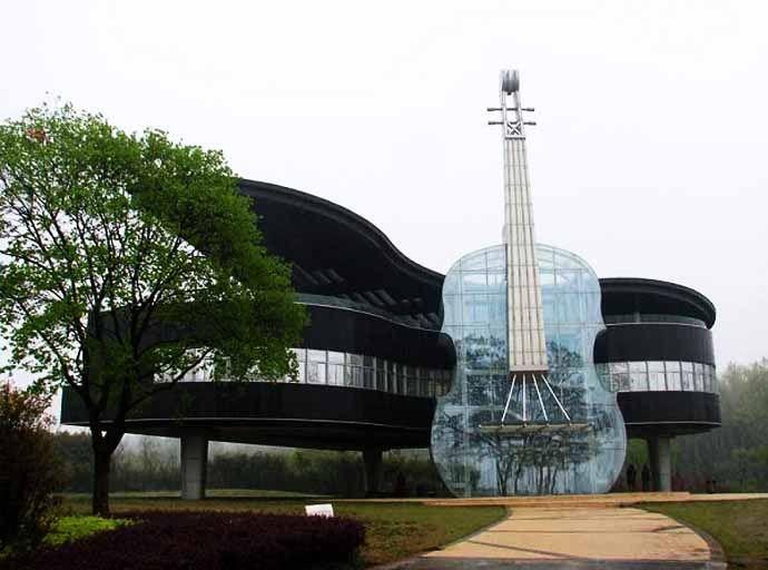 Beautiful Piano House In China Casas Estranhas Casas Incomuns E