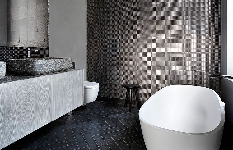 Luxe Badkamer Interieur : Stoere luxe badkamer pinterest badkamer visgraat en luxe