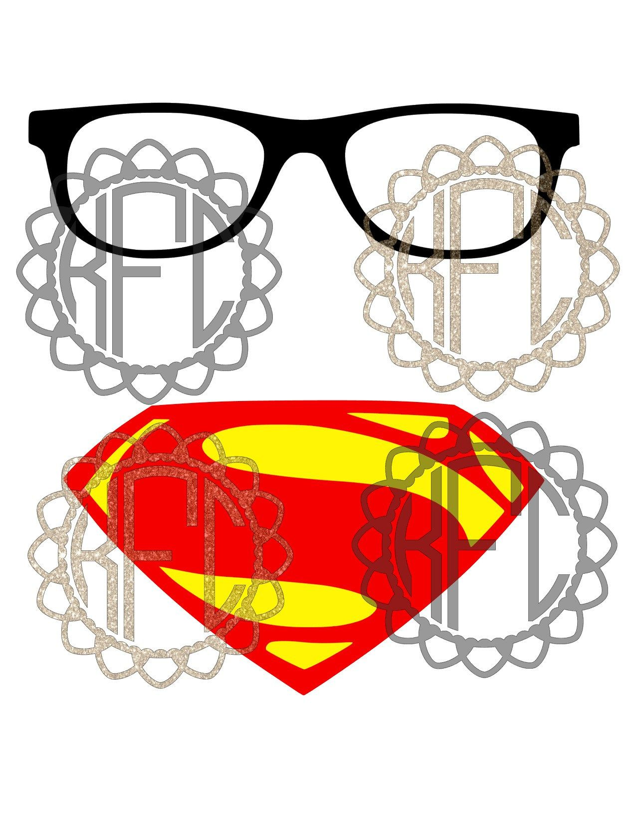 Clark Geek Superman set Layered EPS svg, png, pdf