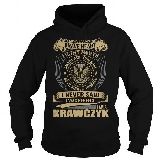 Awesome Tee KRAWCZYK Last Name, Surname T-Shirt T shirts