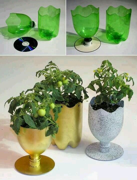 Soda bottle planters | Garden ideas | Pinterest | Soda bottles ...