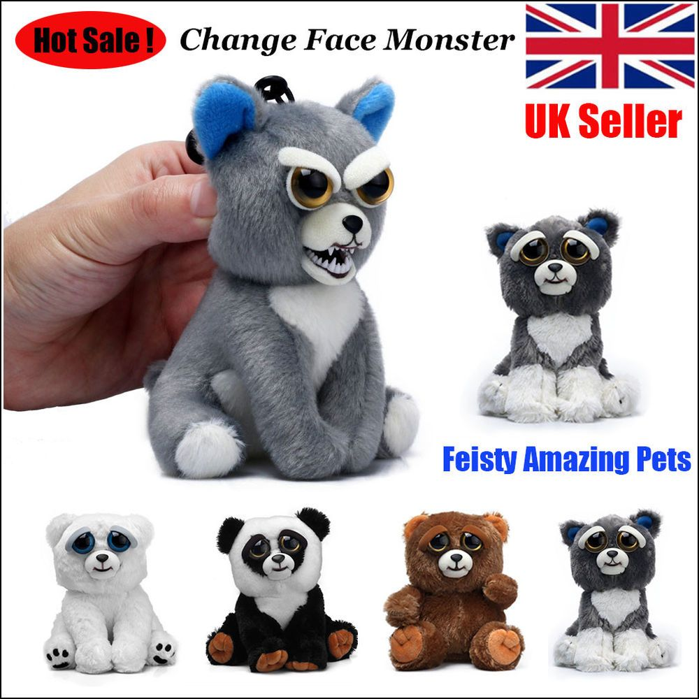 UK Feisty Soft Pets Plush Stuffed Scary Face Toy Doll