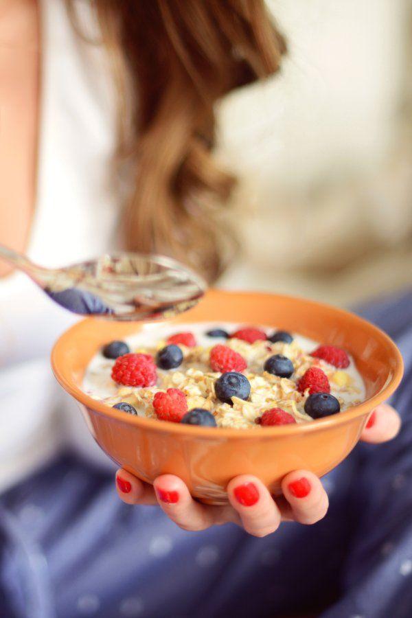 Haferflocken zum Frühstück verlieren Gewicht