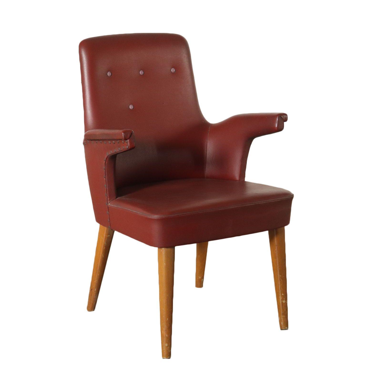 Chaise Avec Accodouirs Repandu Simil Cuir Italie Annees 50 Chaise Vintage Chaise Decoration Interieure