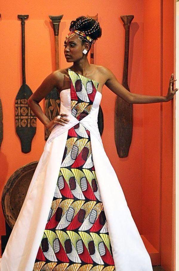 Modele robe de mariage en pagne
