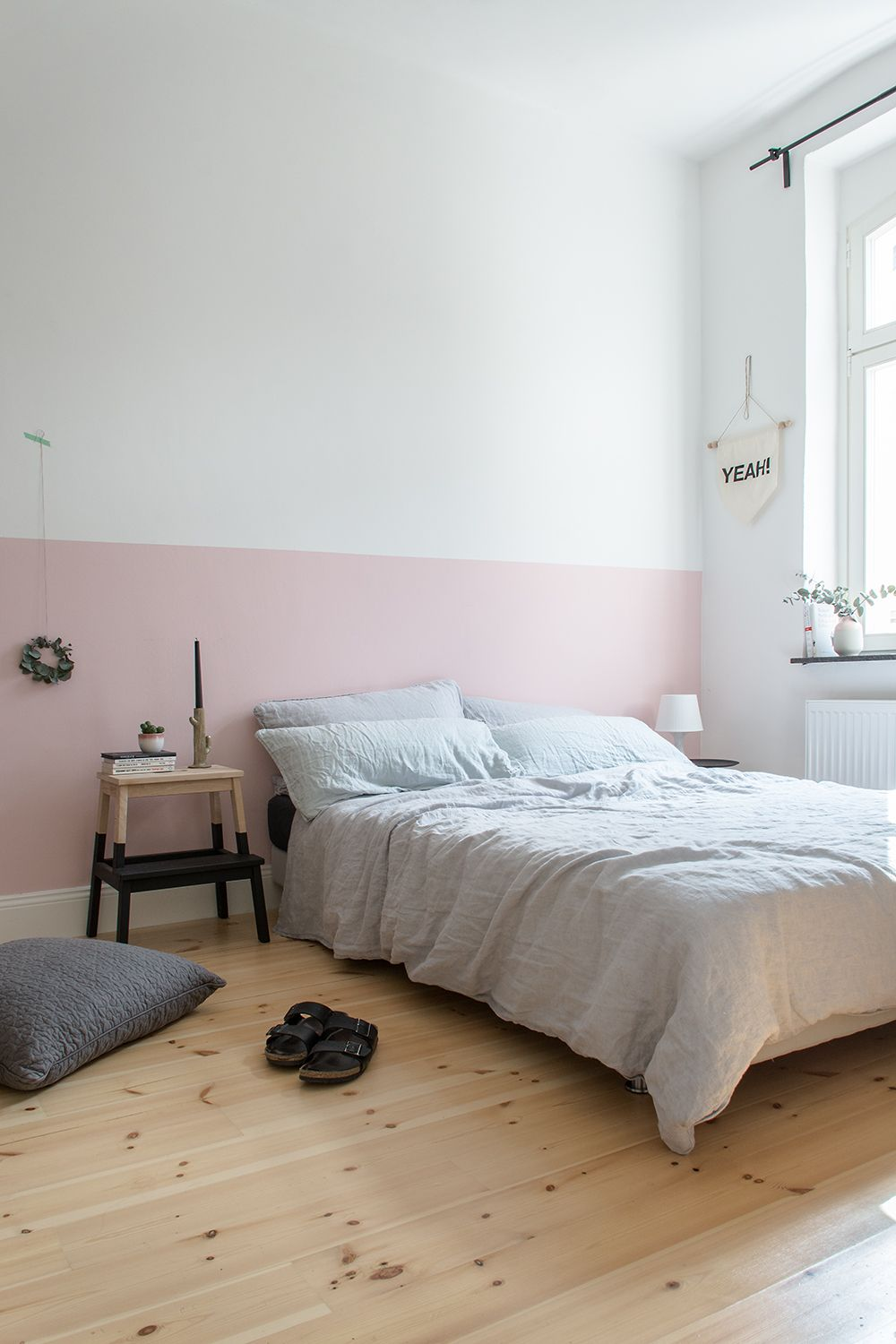 eine rosa wand? nieemals! | pink walls, stripes and colour - Schlafzimmer Wand