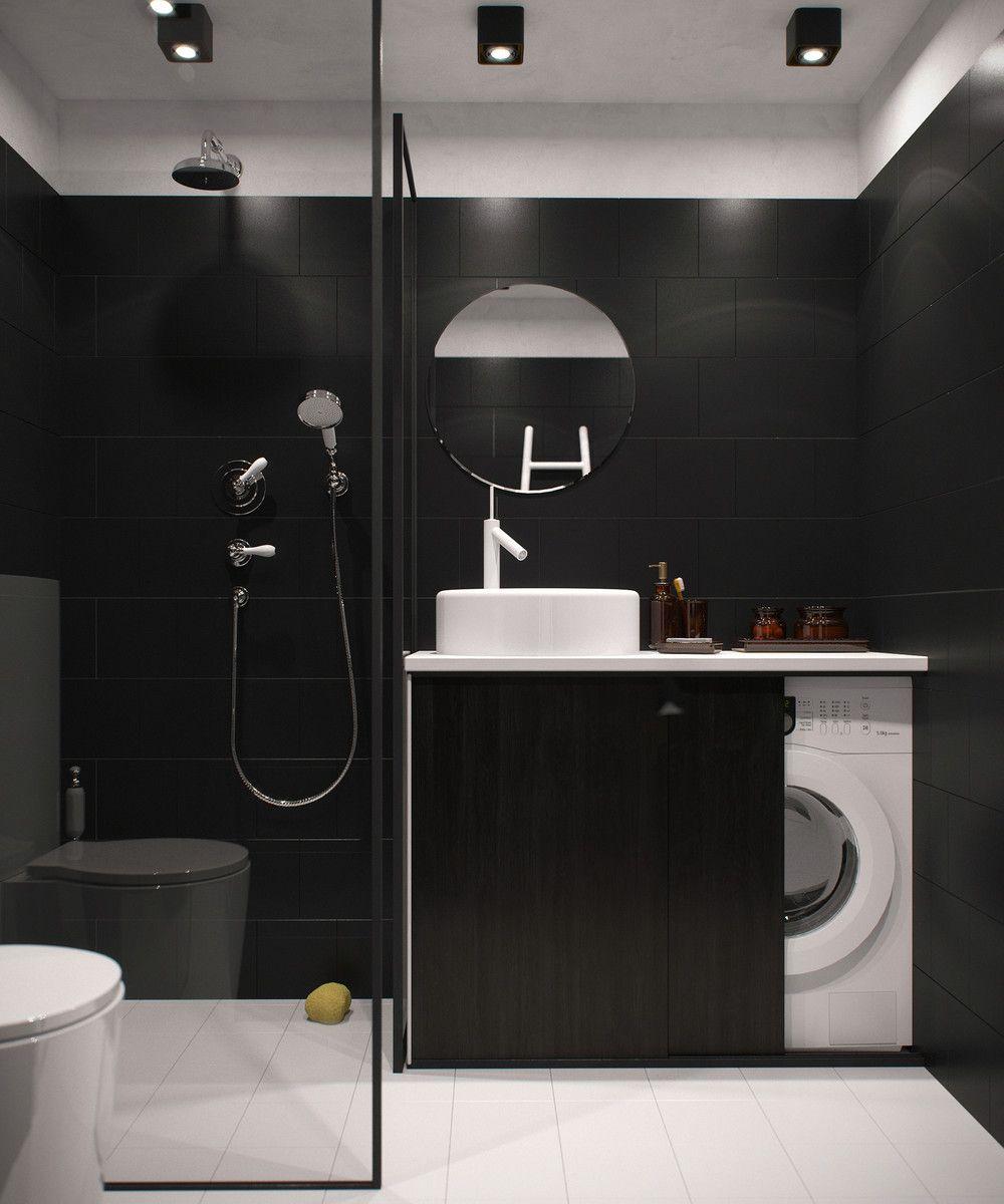 Compact Apartment Layout Jpg 1000 1200 Ba Os Pinterest  ~ Cuartos De Baño De Diseño Pequeños