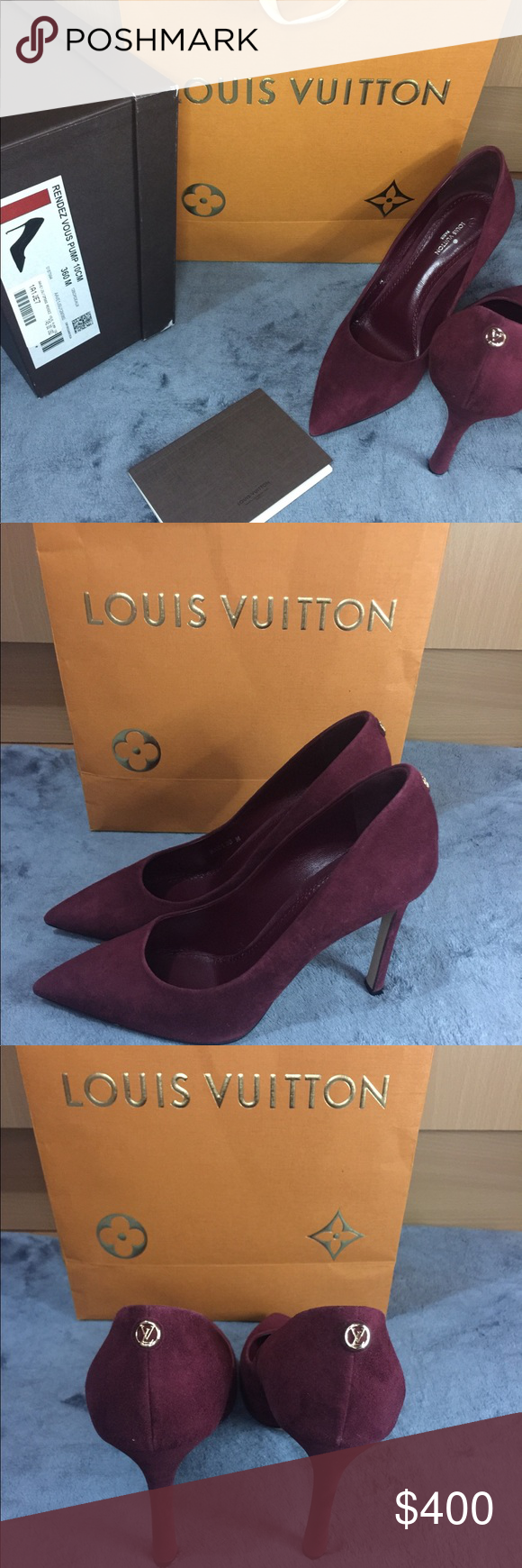 f0f18dc92c 👠Louis Vuitton Rendez vous pump heels 👠 Beautiful Burgundy Louis ...