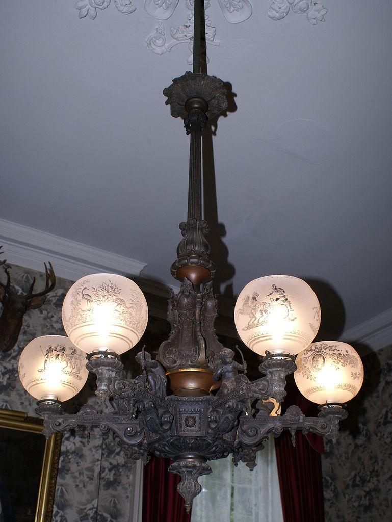 Parlor gas chandelier |!!! Bebe'!!! Vintage Chandelier! - Parlor Gas Chandelier Parlour, Chandeliers And Victorian
