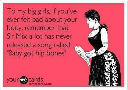 """I got hip bones"""