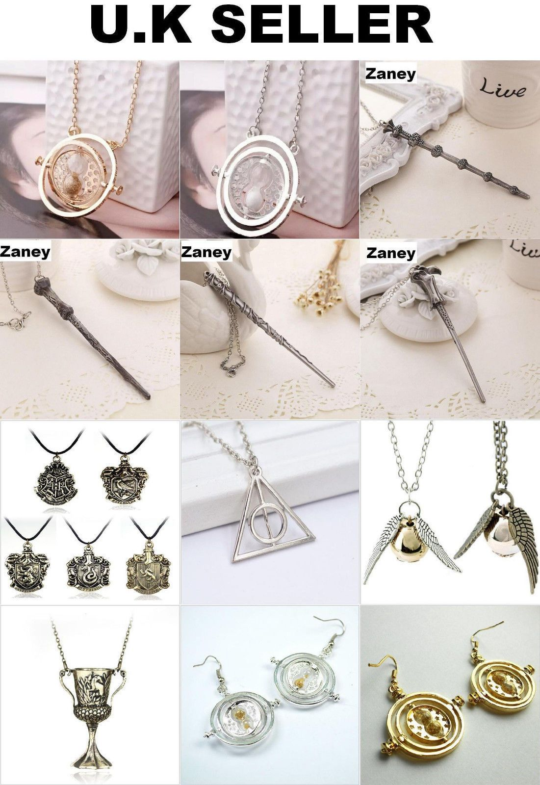 #Harry potter #jewellery wand time turner voldemort #dumbledore hogwarts necklace,  View more on the LINK: http://www.zeppy.io/product/gb/2/172271418316/