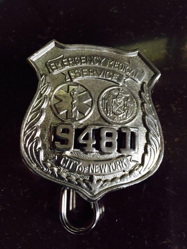 Used Cars Honolulu >> New York City Emergency Medical Service NYC EMS shield. Hallmarked RK, and has double lug ...