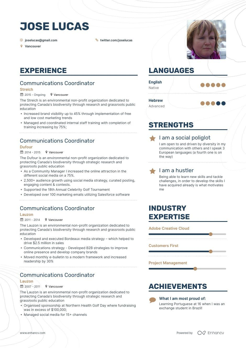 Communications Coordinator Resume Example and guide for