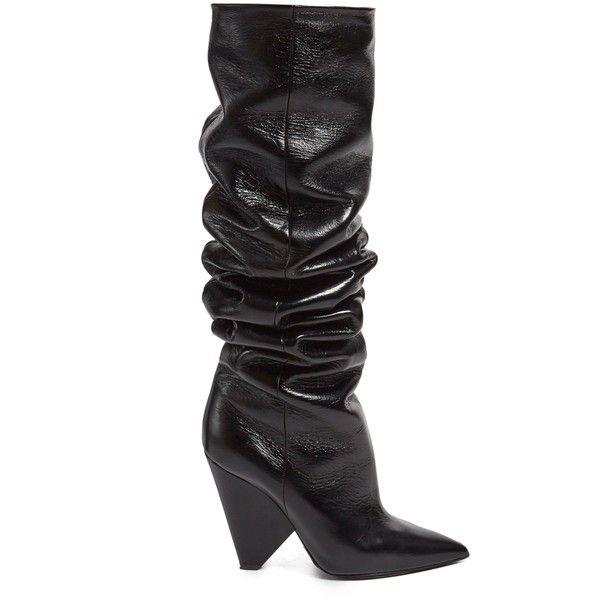 Saint LaurentNiki 105 slouch leather boots WAZeqe