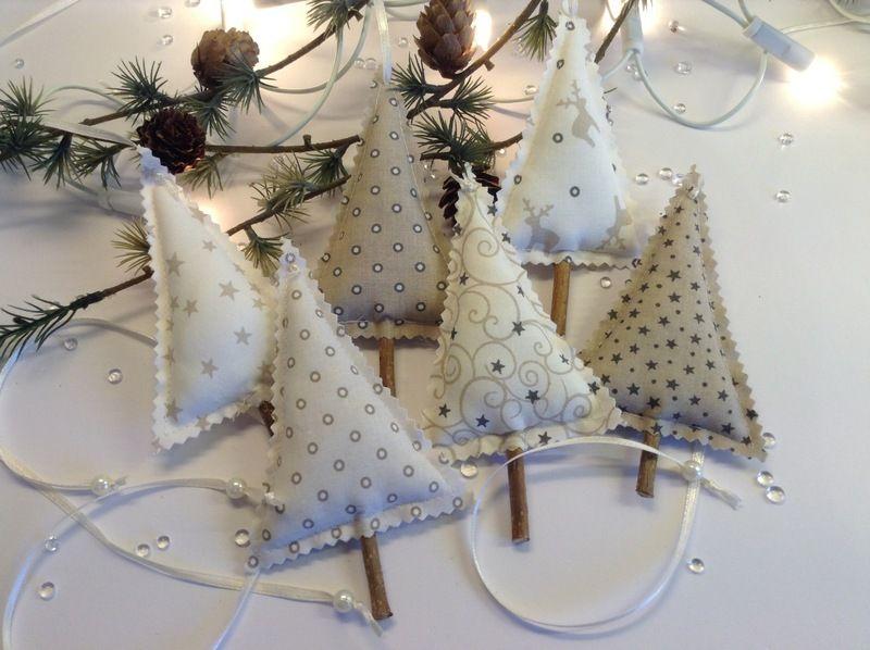 Weihnachtsdeko 6 Tannenbaume Zum Aufhangen Ein Designerstuck Von