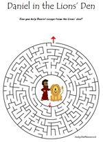 Daniel & The Lion's Den - Sunday School Puzzle Maze Bible ...