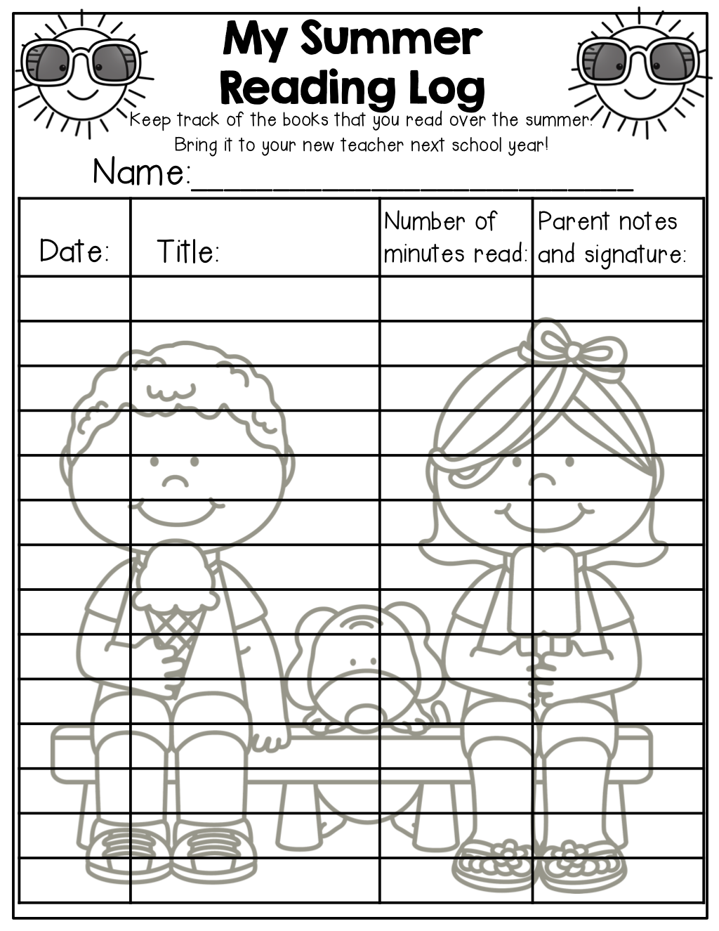 Summer Packet No Prep Review 1st Grade