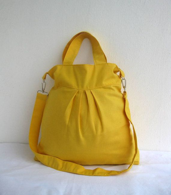 Yellow SummerMessengerLarge by marbled on Etsy, $35.00