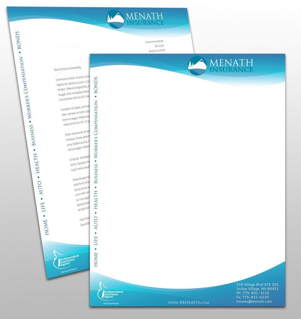 Having The High Quality Customized Letterheads Printed Has The Number Of Benefits For The Business For The Mar Letterhead Printing Letterhead Design Letterhead