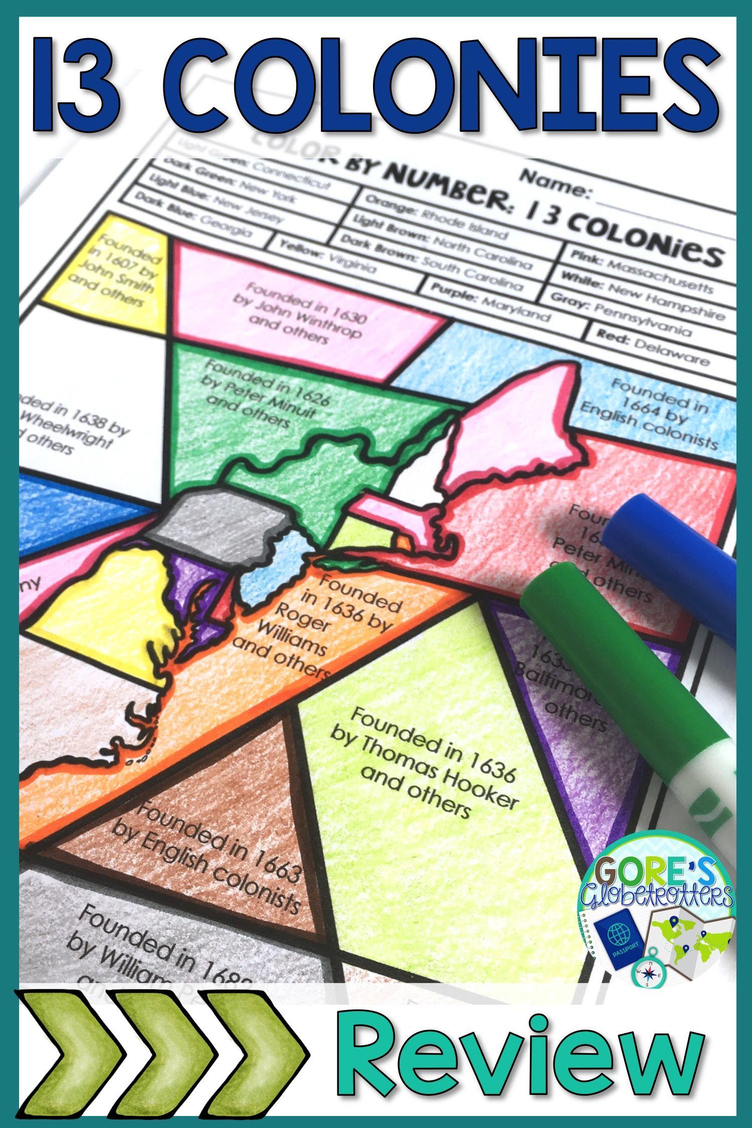 13 Colonies Activity