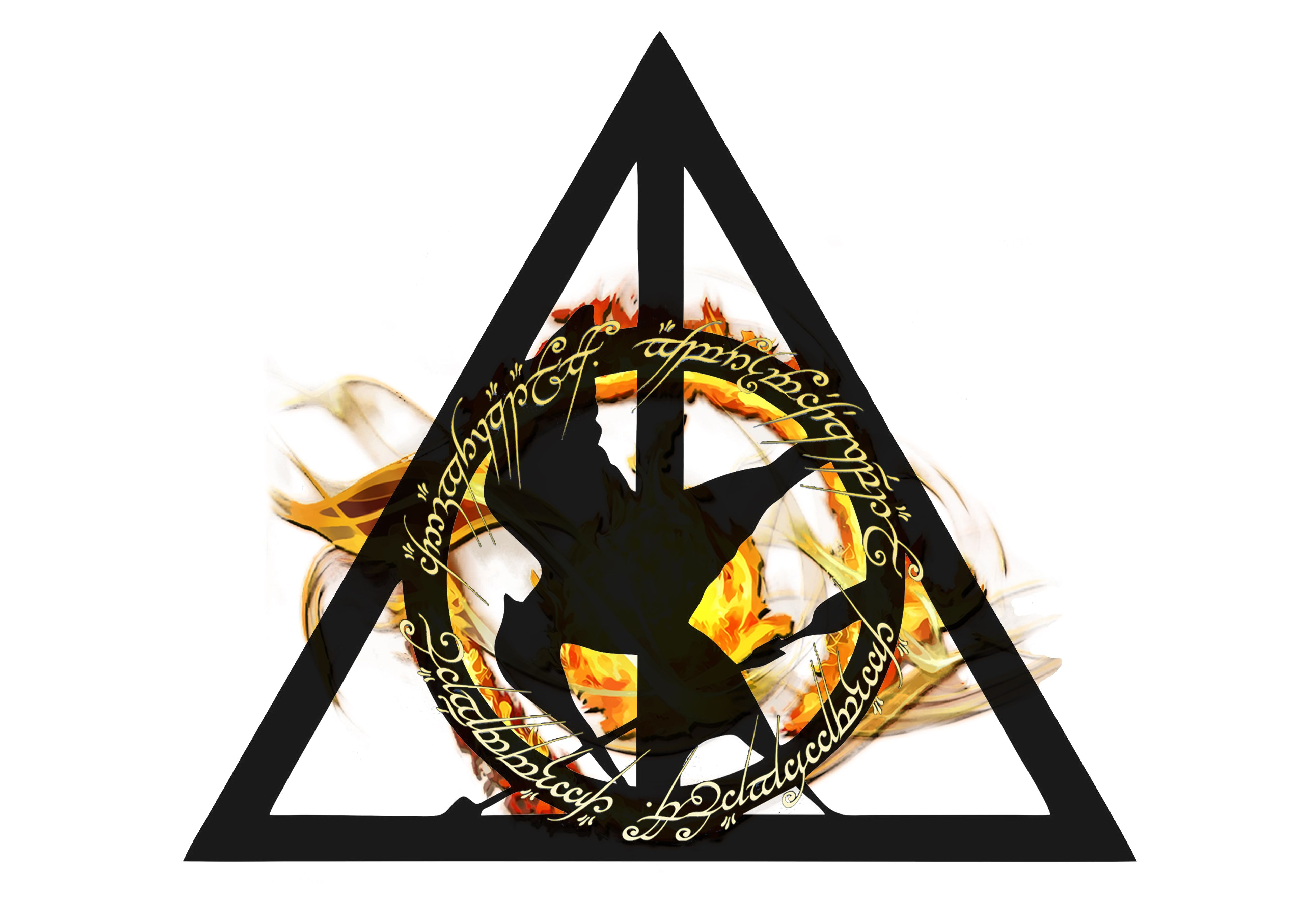 Harry Potterly Hallows Sign Lord Of The Rings