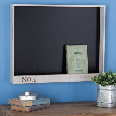 Cole & Grey Wood Chalkboard Color: Gray