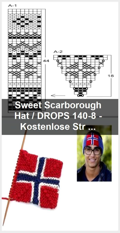 Sweet Scarborough Hat / DROPS 140-8 - Kostenlose Strickanleitungen von DROPS Design,  #Design #Drops #Hat #kostenlose #Scarborough #Strickanleitungen #Sweet #von