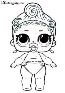 Lil Precious L.O.L Surprise Doll Colouring page Coloring