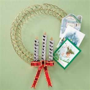 candle wreath card holder