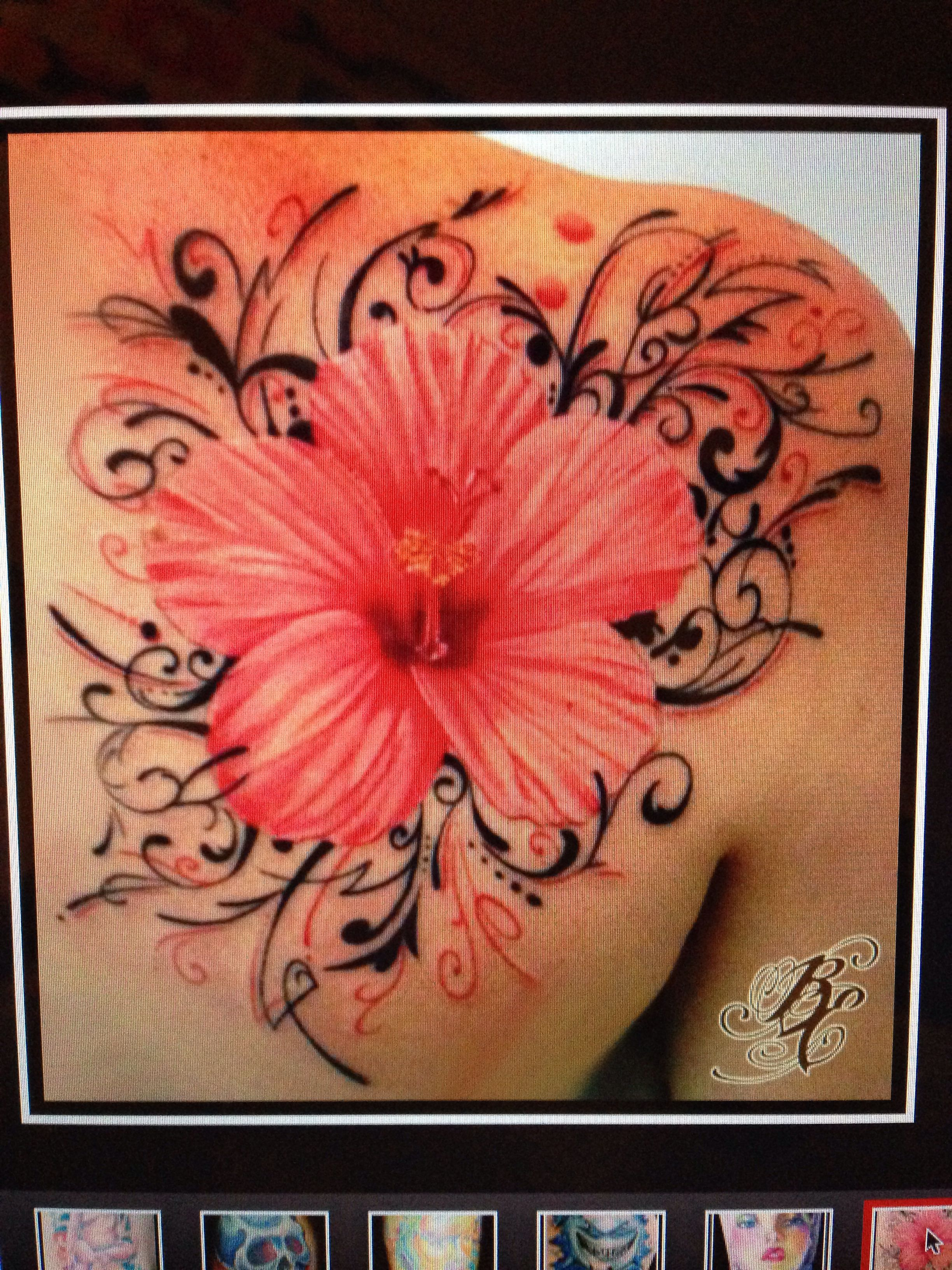 Absolutely gorgeous hibiscus tattoo bennett edwards at trinity inspiring pictures of beautiful pink and black hibiscus flower tattoo on shoulder you can use this beautiful pink and black hibiscus flower tattoo on izmirmasajfo