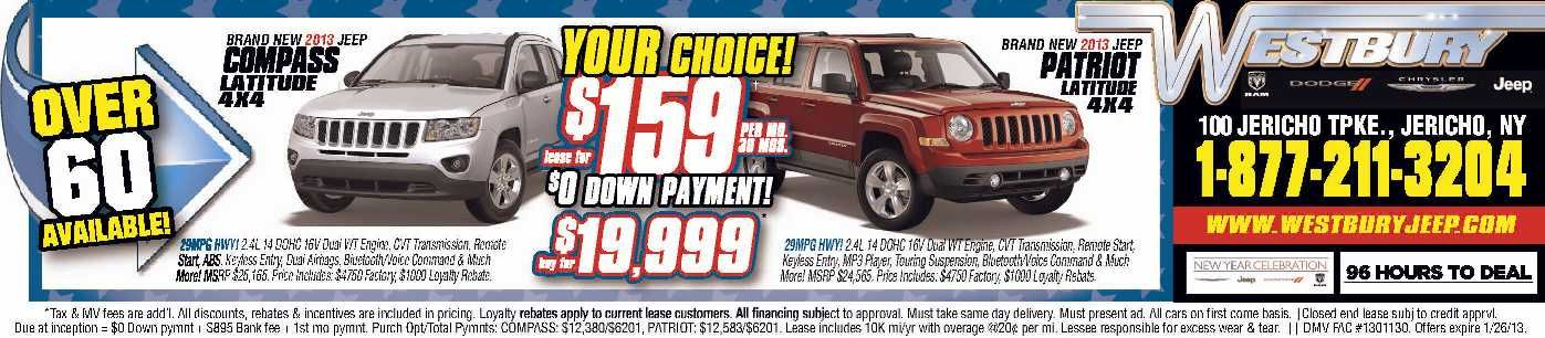 Jeep Compass Jeep Patriot Lease Long Island Jeep Dealer