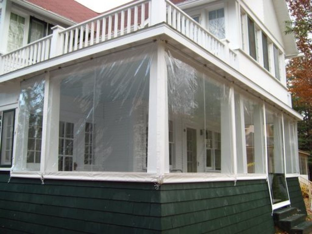 Benefit from temporary patio enclosures vertical window