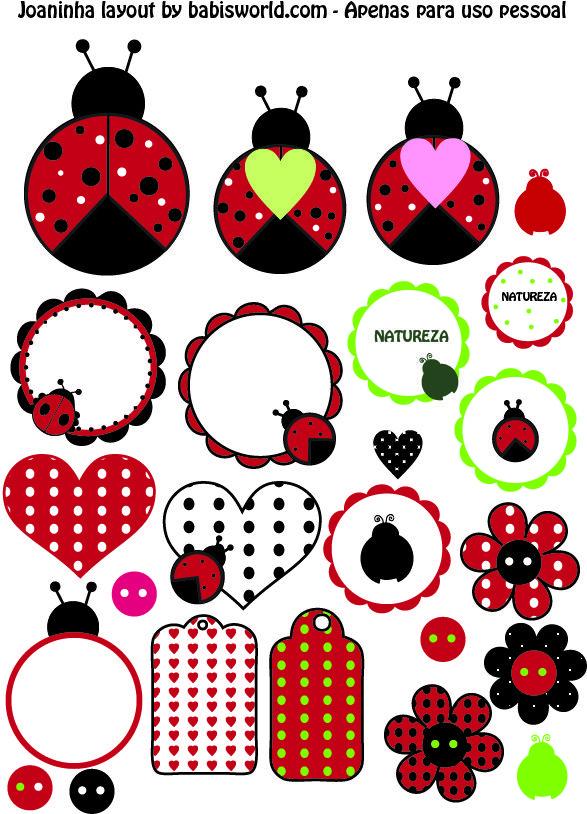Joaninha para imprimir | Babi\'s World: printable ladybugs | Ladybugs ...