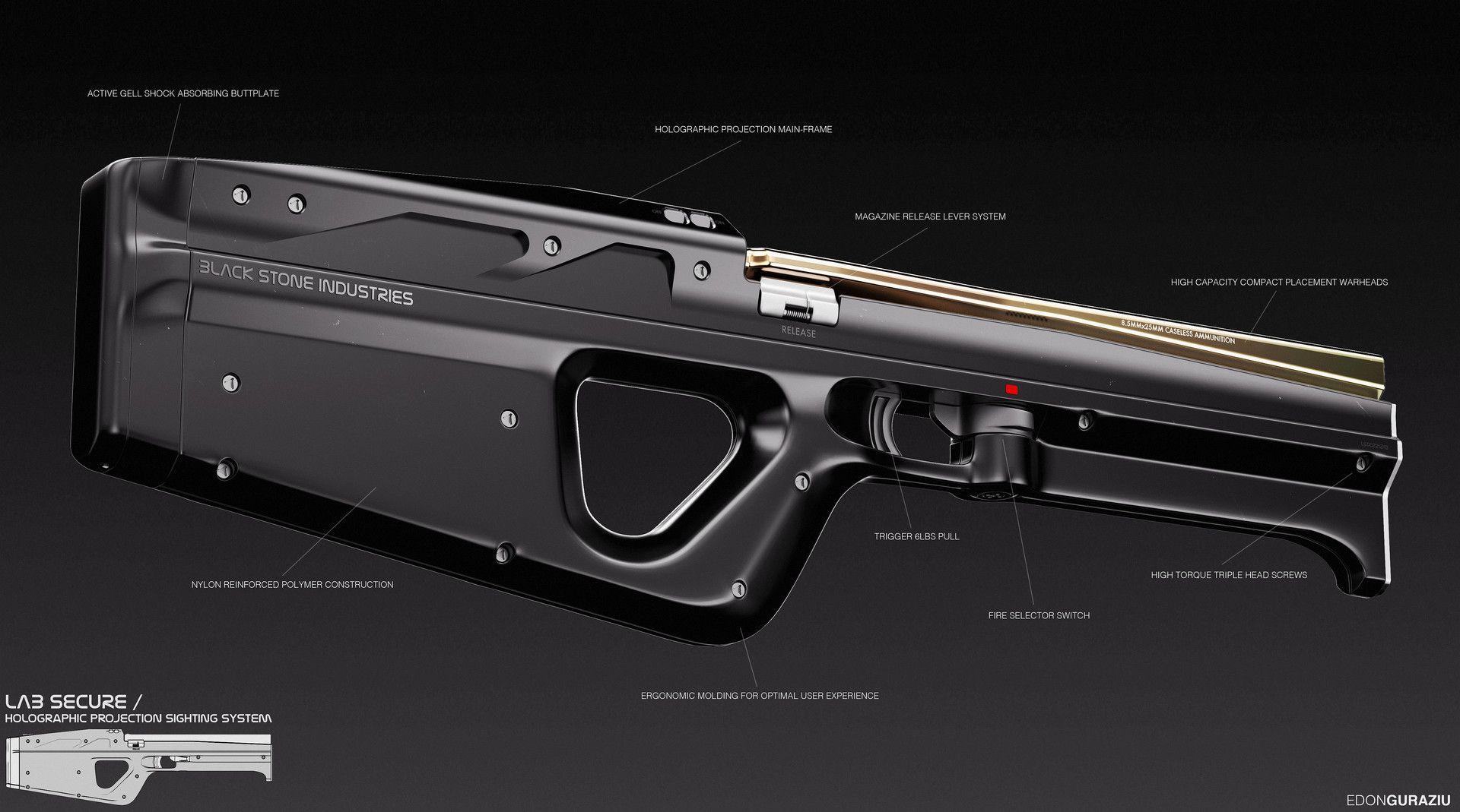 ArtStation - Scifi Weapon Design, Edon Guraziu | Sci-fi ...