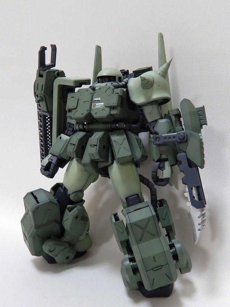 MG 1/100 Zaku II Ver. 2.0 - Custom Build  by: Tabotchi    Modeler used, MG Zaku II Ver. 2.0+ MG Rick Dias+ Kotobukiya Extended Arms 03 I...
