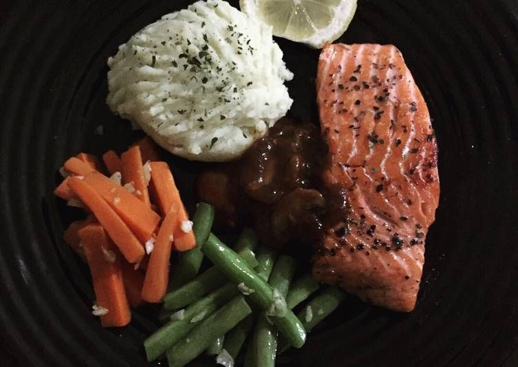 Resep Salmon Steak Oleh Oline89 Resep Resep Salmon Resep Steak Resep