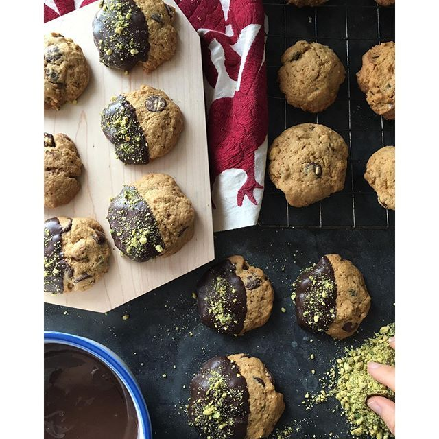 Peppermint Chocolate Pistachio Cookies. Get this and 25+ more Holiday Cookie recipes at http://feedfeed.info/holiday-cookies