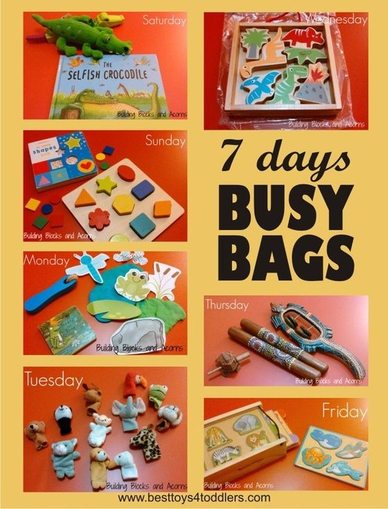 7 Days Of Busy Bags For Toddlers Best Toys 4 Toddlers