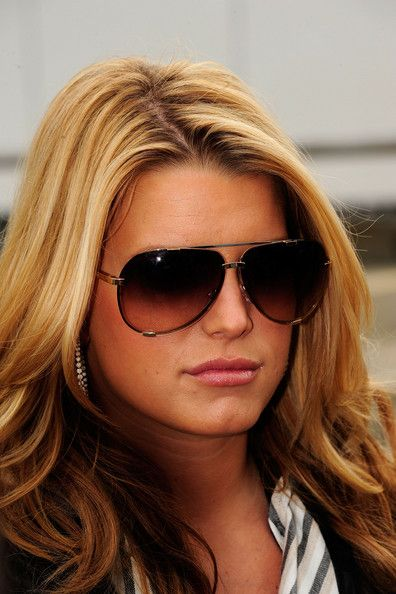 595ebe5aaa Jessica Simpson Aviator Sunglasses