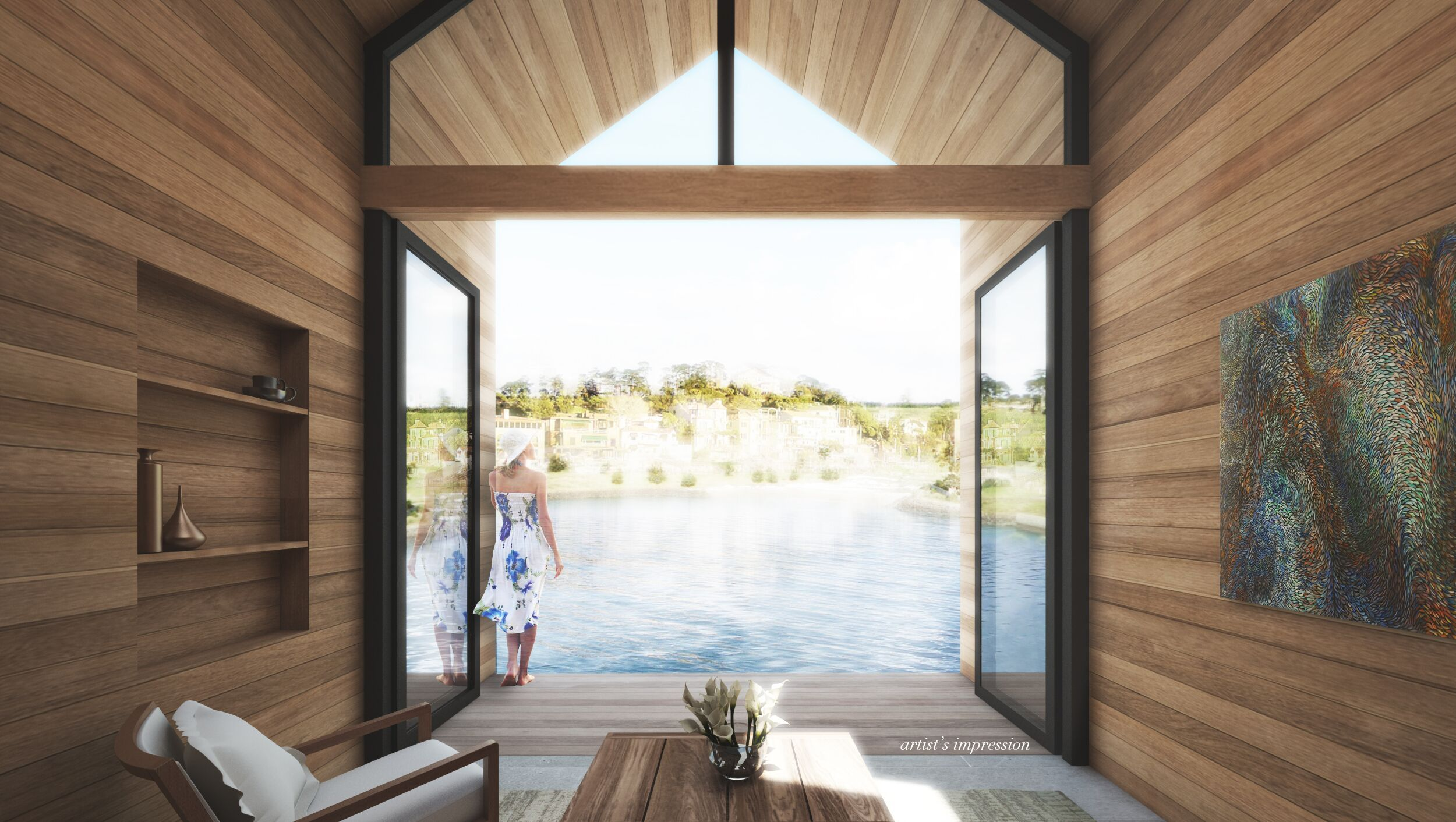 On golden pond: first-of-their-kind, floating homes coming to New Zealand | Idealog