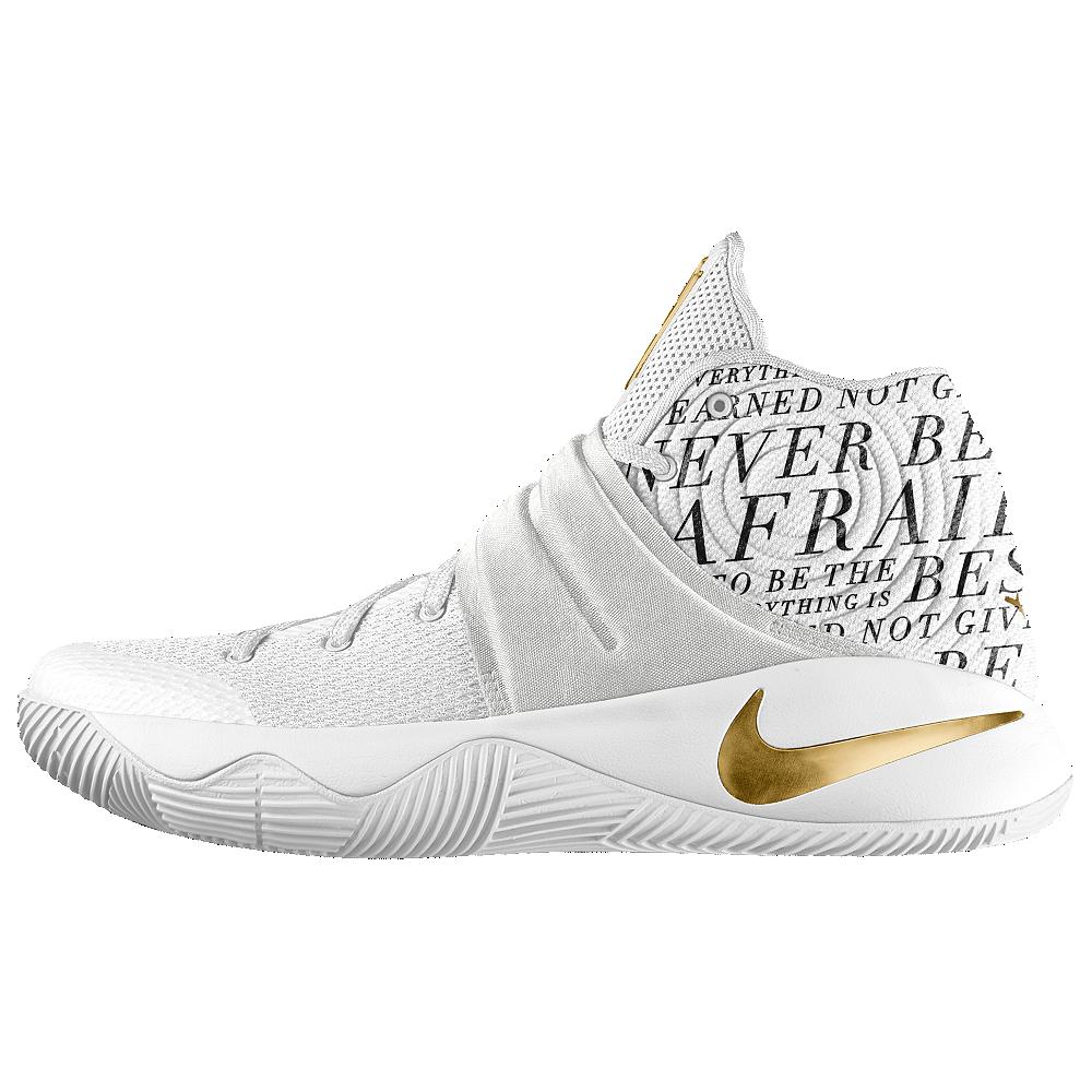 d6adb8bff2 Nike Kyrie 2 iD Big Kids' Basketball Shoe Size 3.5Y (White ...